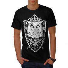 Owl Rey Caballero Animal Hombres Camiseta Nuevo | wellcoda