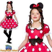 Red Cute Missie Minnie Mouse Polkadot Child Girls Fancy Dress Costume