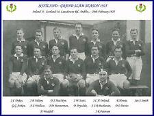 Scotland 1925 (v Ireland) Grand Slam Rugby Team Photograph