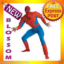 C180 Deluxe Spiderman Superhero Muscle Halloween Adult Costume XL XXL