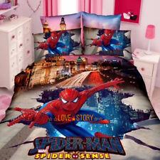 Blue Spiderman Single/King Single Bed Quilt/Doona/Duvet Cover Set Pillow Case