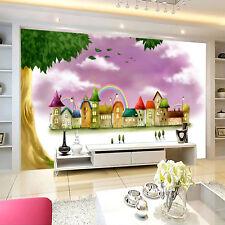 3D Château.Rose Photo Papier Peint en Autocollant Murale Plafond Chambre Art