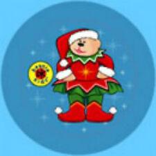 Chrissy the Christmas Elf Bear Beanie Badge