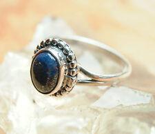 Handarbeit Ring Silber Lapis Lazuli Blau Pyrit Silberring 53 55 Verspielt Antik