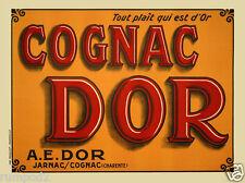 French Art Deco Poster/ Cognac Dor Jarnac / Cognac -  'All that is gold please'