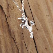 Sterling Silver Realistic Unicorn Pendant Necklace