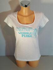 """CRS Cross ""señora T-Shirt talla M; XL blanco con Print nuevo con etiqueta"