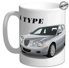 Personalised Jaguar S TYPE car mug Cup Coaster.Add Name& Text -CR01-05