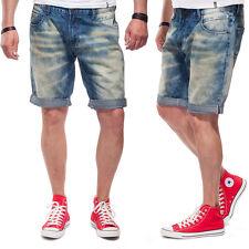 Shine Original Short Jeans pour hommes 2-55028 atomique Bleu