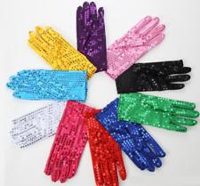 Fashion Unisex Sequin Gloves Fancy Dress Dance Party Stage Jazz Clown Gift UK