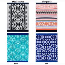 100% Egyptian Cotton Jacquard Velour Beach Towel - Giant Size 95cm x 175cm