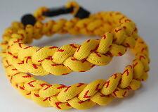 "NEW! 22"" Yellow & Red Baseball Stitch Titanium Necklace Tornado FREE SHIPPING!"
