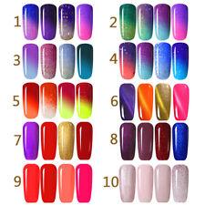 Farbwechsel Gellack Magnetisch Nail Polish Soak Off Thermo Nagellack 4x UV Gel