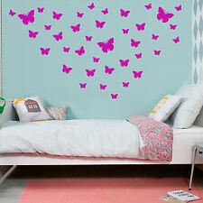 BUTTERFLIES Wall Sticker Girls Bedroom Nursery Butterfly Vinyl Art Decal  x 39