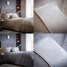 Luxe Crushed Velvet Shimmer Metallic Duvet Cover Bed Set Silver/Grey/or