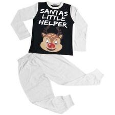 Infantil Pijama Niño Rudolph el Reno Santa Ayudante Blanco Navidad Pijama 2-13