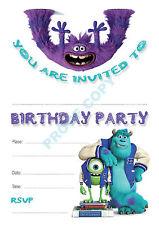 Monsters University Enfants Fête D'Anniversaire invitations Pack de 10