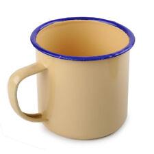 jaune 300ml émail Verre Coupe Tasse Boire Café Bière Thé Vintage Enamel Cup Mug