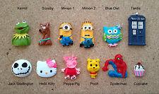 Resins Tardis Dr Who Minions,  Kermit,  Scooby Doo, Pooh, Owls, Sponge Bob, JS