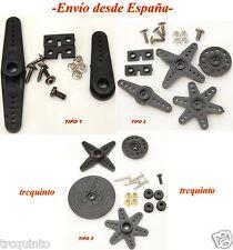 Set de brazos para servos MG946R, MG996R, MG995, MG945 + accesorios. Servo Arm