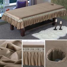 Luxury Massage Table Cover Crochet Flowers Pattern Bed Skirt Bedspread Elastic