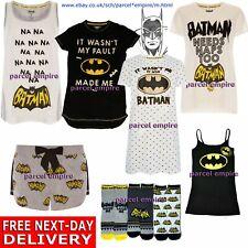 Official DC Comic Ladies BATMAN PYJAMA Nightie Nightdress T-Shirt Vest Shorts PJ