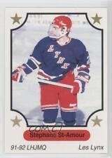 1991 7th Inning Sketch LHJMQ #161 Stephane St-Amour Saint-Jean Lynx (QMJHL) Card