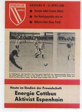 DDR-Liga 79/80 ZEPA energía cottbus-BSG activista Espenhain (13.04.1980)