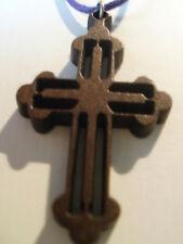 Cruz De Madera Estilo Gótico Colgante Collar Gargantilla