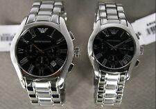 100% Brand New EMPORIO ARMANI Wristwatch Metal Chronograph LUX AR0673 or AR0674