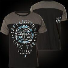 Affliction T-Shirt Athletic Army Schwarz/Grau