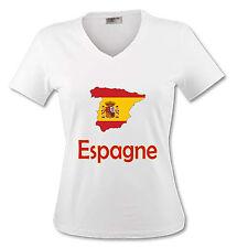 T-shirt Femme Carte Espagne - drapeau espagnol - du S au XL