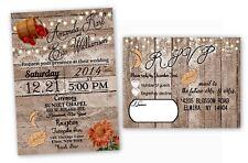 Fall Wedding Invitations Rustic Farm Autumn Bridal Shower October Barrel USA