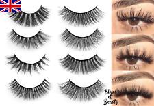 💖NEW 5 Pairs Layered False Eyelashes Mink Volume 3D Wispy Lashes Makeup  UK 💖