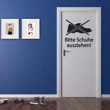 Wandtattoo Bitte Schuhe ausziehen Wandbild Wandsticker Wanddeko Deko-Trend Deko