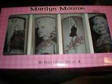 MARILYN MONROE HI BALL GLASS NIB SET OF 4