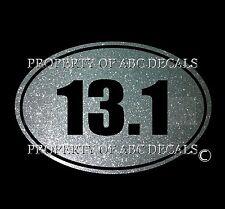 VRS Run OVAL Running 13.1 Half Marathon Runnner Metal Wall Decal Car Sticker