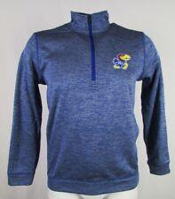 Kansas Jayhawks Men's S-2XL 1/4-Zip Team Issue Climawarm Jacket NCAA adidas
