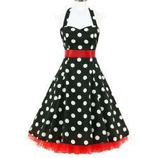 142b23d97999e4 50er Jahre Rockabilly Kleid Vintage 50' Retro Chloe Polka Dots Retro Fifties
