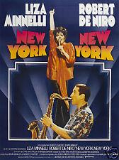 New York New York De Niro vintage movie poster print