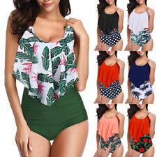 Women Push Up Padded Tankini Bikini Set Swimsuit Bathing Suit Swimwear Oversize