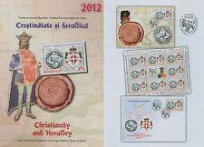 Rumänien 2012 Souveräner Malteserorden,Emblem Mi.6667,Zf,KB I+ II,Block 547,FDC
