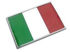 ITALY FLAG CHROME EMBLEM Badge - Italian Flag - RARE !