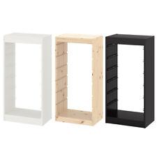 IKEA TROFAST Regalrahmen weiß / schwarz / Kiefer weiß für Box Boxen