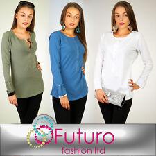 SENSIBLE Blusa Con Botones Camiseta de manga larga Suéter Talla 2.4-3.7m1029