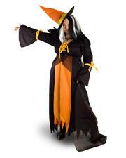 Witch Wizard Sorcerer Dress Plus Size Halloween Orange XL 2XL XXL Women Costume