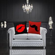 Lèvres et moustache Housses De Coussin Amour Saint Valentin Couples partenaires de mariage