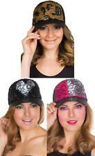 Basecap Kappe Schirmmütze mit Wendepaillette Karneval Fasching Kostüm