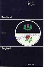 SCOTLAND v ENGLAND 1978 RUGBY PROGRAMME 4 Mar at MURRAYFIELD