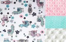Llama Baby Minky Blanket /Stroller Blanket/Lovey/Taggie Blanket/Baby Shower Gift